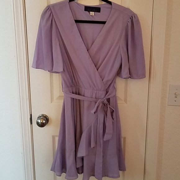 1dd87b68ad76 Francesca's Collections Dresses & Skirts - Lavender faux wrap dress size  small